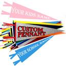 Custom Felt Pennant Banner with Felt String Ties,Full Color Printed Felt Pennant Flags