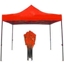 Custom 10' x 10' 420D Polyester Fabric Tent with Steel Frame - One Color Imprint