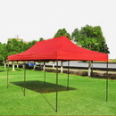 Custom 10' x 20' 420D Polyester Fabric Tent with Steel Frame - One Color Imprint