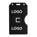 Custom 2-Sided Open Rigid Plastic Vertical Multi-Card Holder, 2 3/16