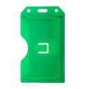 Blank 2-Sided Open Rigid Plastic Vertical Multi-Card Holder, 2 3/16