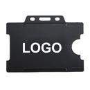 Custom 1-Sided Open Rigid Plastic Horizontal Card Holder, 2 3/16