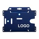 Custom 1-Sided Open Rigid Plastic Horizontal or Vertical Badge Holder, 2 3/16