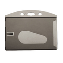 Blank Horizontal Rigid Plastic Single Card with Slot, 2 3/16
