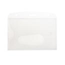 Blank Horizontal Rigid Plastic Dual-sided with Slot, 2 3/16