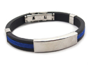 Promotional Metal Silicone Bracelet, Long leadtime