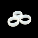 Custom Transparent Color Debossed Silicone Rings, 2 mm Thickness