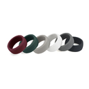 Blank Premium Men's Silicone Rings Wedding Rings, 8.7 mm Wide, 1 unit = 6 pcs