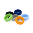 (Price/6 Pcs) GOGO Men's Silicone Wedding Ring - 9 mm Wide (3 mm Thick) - Great for Gym, Training, Outdoors, Exercises - 18 Colors