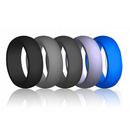 (Price/5 PCS) GOGO Silicone Wedding Ring, Safe and Sturdy Rubber Band - 8mm Wide