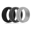 (Price/3 PCS) GOGO Silicone Wedding Ring for Men Women Affordable Thin Rubber Wedding Band Rings 8.5 mm Wide