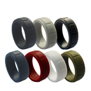 (Price/7 PCS) GOGO Silicone Wedding Rings Rubber Bands for Men & Women - 8mm Wide