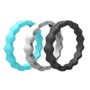 (Price/3 PCS) GOGO Silicone Wedding Ring for Women, Thin and Stackable Rubber Band - 2mm Thick