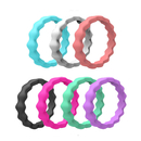 (Price/7 PCS) GOGO Silicone Wedding Ring for Women, Thin and Stackable Rubber Band - 2mm Thick