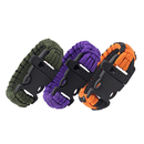 GOGO Paracord Bracelets with Emergency Whistle Buckles for Outdoor Camping, Hiking
