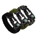 GOGO Emergency Paracord Bracelets - Tactical Survival Gear Flint Fire Starter, Whistle, Compass and Scraper/Knife Wilderness Survival Kit for Camping Fishing and More