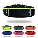 Opromo Unisex Water Resistant Running Belt Waist Pack Adjustable Reflective Fanny Pack Pouch Bag with 3 Zipper Pockets Fits All Phone Models
