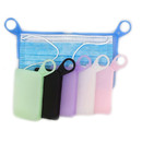 GOGO Silicone Portable Foldable Mini Personal Face Masks Case with Handle Ring,Disposable Face Masks Organizer Dustproof Waterproof Mask Storage