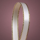 Oparty Gold Edge Satin Ribbons, 3/8