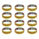 GOGO Softball Leather Bracelet / Baseball Seam Bracelet / Football Wristband