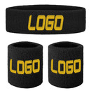 GOGO Promotional Terry Sweatband Set (1 Headband + 2 Wristbands)