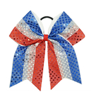 GOGO US Flag Style Hair Bow, Sequin Performance Hair Bows - Wholesale