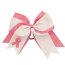 GOGO Pink Ribbon Cheer Bow, Breast Cancer Awareness Hair Bows - Wholesale