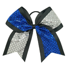 Alice Two-Tone Sequin Cheer Bow, Competition Big Hair Bows - Wholesale