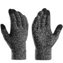 Opromo Women Men Touchscreen Gloves Knit Warm Lined Non-slip Texting Gloves