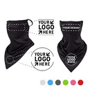 Opromo Personalized Custom Cooling Face Scarf Neck Gaiter with Ear Loops, UV Sunscreen Triangle Face Mask Scarf for Cycling Dusty Outdoor.