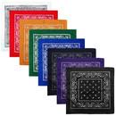 Muka 8 PCS 100% Cotton Paisley Bandana Cowboy Scarf Handkerchiefs, 21