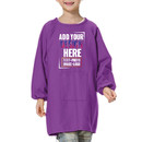 Personalized Custom Cotton Canvas Long-Sleeve Artist Smock, Kids Smock with Front Pocket