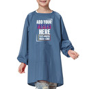 Personalized Custom Nylon Long Sleeved Waterproof Kids Art Smock with Front Pocket