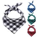 Muka Plaid Printing Pet Kerchief, Triangle Cotton Scarf Neck Gaiter Accessories