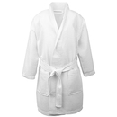 Opromo Kids Waffle Kimono Spa Party Robe Hotel Cotton Bathrobe with Pockets