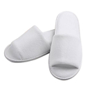 Opromo Terry Velour Open Toe Slippers Fleece Cloth Spa Hotel Unisex Slippers