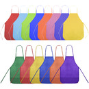 Opromo 12-Pack Non Woven Colorful Kids Apron for DIY Painting Drawing Artist Available in Two Sizes(S/M)