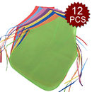 Opromo 12 Pack Non-Woven Fabrics Unisex Colorful Kids Apron for DIY Painting Artist
