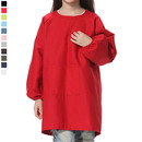 Opromo Cotton Canvas Long-Sleeve Artist Smock, Kids Smock with Front Pocket