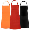 Opromo Unisex Cotton Canvas Adjustable Chef Kitchen Aprons with 2 Pockets