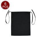 Opromo Bistro Apron with One Patch Pocket, Polyester/Cotton Twill-6 PCS/Pack