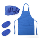 (Price/12 Sets) Opromo Colorful Cotton Canvas Kids Apron, Chef Hat and Oversleeve Set, Party Favors(S-XXL)