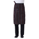Opromo Chalk Strip Bistro Apron with One Pocket, 27