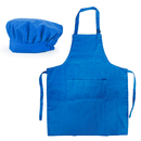 Opromo Cotton Canvas Adjustable Apron Chef Hat Set for Men and Women