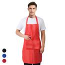 Opromo 2-Pocket Restaurant/Garden/Craftsmen/ Professional Chalk-Stripe Bib Apron
