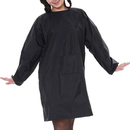 Opromo Womens' Long Sleeved Waterproof Apron Smock with Front Pocket