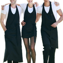 Opromo Adjustable Bib Apron with One Front Pocket, V-Neck Tuxedo