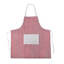 (Price/6PCS)Stripe Cotton Canvas Aprons With Pocket-31.5