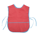 (Price/6PCS)Colorful Kids PVC Waterproof Art Smock Cobbler Aprons, Full Front and Back Coverage With Pocket(1-9 years)