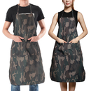 Opromo Camouflage Waterproof Oxford Fabric Apron with 2 Front Pockets for Men and Women
